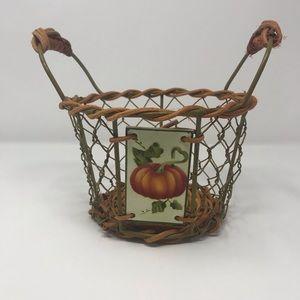 Farmhouse Chic Fall Pumpkin Basket